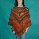 "KNC Coming Home ""Martha Stewart"" Poncho Harvest Sz S-M"