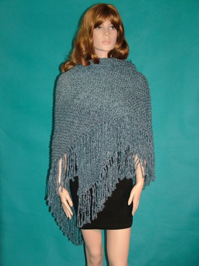 KNC Hand Knit Homespun Shawl Williamsburg