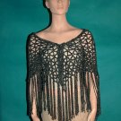 KNC Hand Crochet  Light Chenille Shawl Lapis