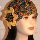 KNC Hand Crochet Ribbon 'n Rose Cloche City Lights
