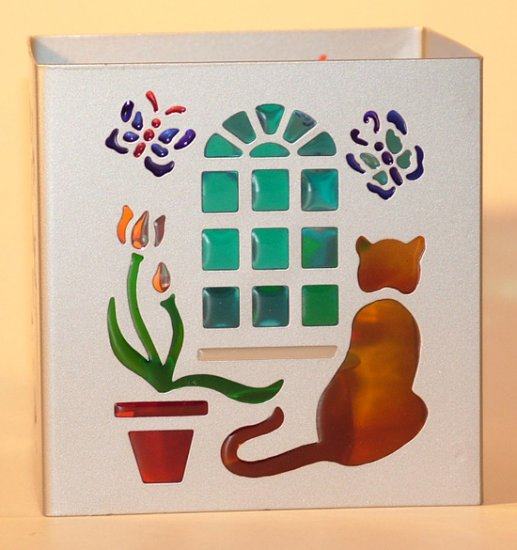 KNC Cat Silhouette Large Tealight Holder