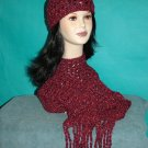 KNC Hand Crochet Cotton Mix Hat-Scarf Set Grand Canyon