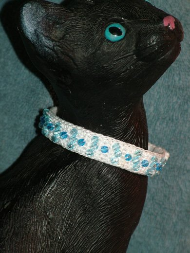 KNC KittyWear Beaded Crochet Cat Collar Birthstone
