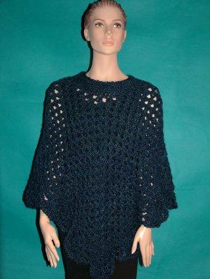 KNC Coming Home Hand Crochet Poncho Colonial Sz S-M
