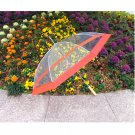 "48"" Clear w/ Red Golf Umbrella"