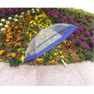 "48"" Clear w/ Blue Golf Umbrella"