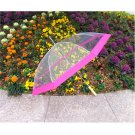 "48"" Clear w/ Pink Golf Umbrella"