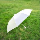 "41"" White Compact Auto Umbrella"