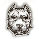 "OG Abel Realistic Temporary Tattoo , ""Pit Face"" Dog"