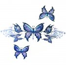 Lethal Threat Girl's Club Temporary Tattoo, Purple Butterflies
