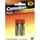 2 Pack AA Alkaline Long Lasting Batteries