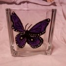 Purple Butterfly Candle Holder