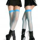 Punk Colored Fishnet Stockings with Black Back Seam