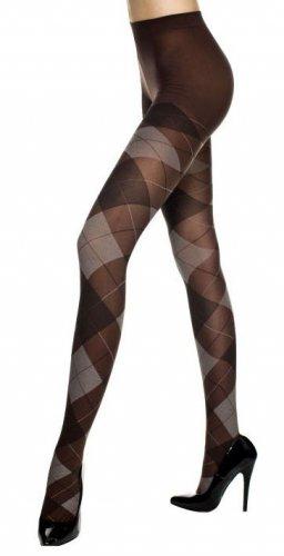 Punk Rock Emo Goth Argyle Tights Pantyhose Sexy Opaque Diamond Fashion Stockings in Black/Gray