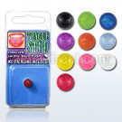 Fake UV Illusion (Suction) Tongue Piercing Stud in Orange