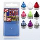 Fake Nose/Lip/Tragus Piercing Magnetic UV Cone Magna Studs in Orange 3mm