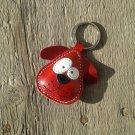 Chowder Red Dog Leather Animal Keychain