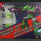 JB-07 Power of Dustruction Upgrade Kit for TFE-20 Devastator MISB