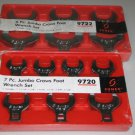 7pc & 6pc Jumbo Crows Foot Wrench Sets-Aircraft,Aviation,Automotive,Truck Tools