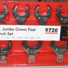 7pc Jumbo Crows Foot Wrench Set-Aircraft,Aviation,Automotive,Truck Tools
