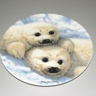 "The Bradford Exchange ""Baby Seals"" Plate With Certificate of Authenticity"