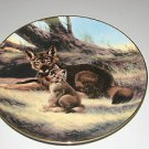 "The Bradford Exchange ""The Red Wolf"" Plate With Certificate of Authenticity"