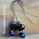 black and cobalt blue
