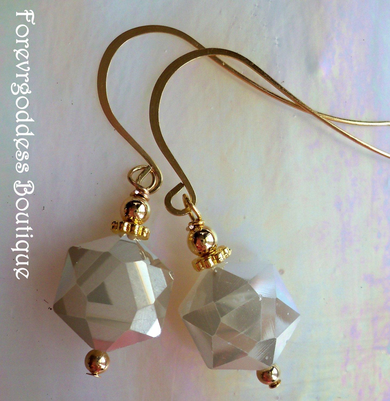 Tan hexagon and gold