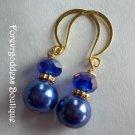 cobalt blue crystal  / blue pearl