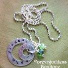 Goddess bless/ Harm None necklace