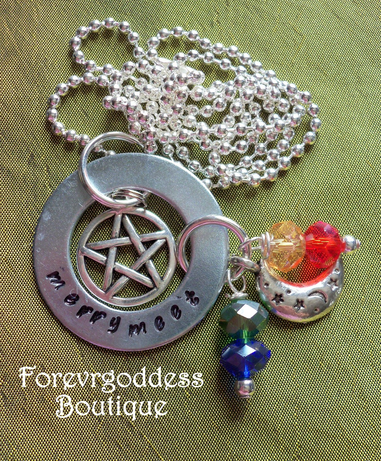 Merry Meet / Pentagram necklace