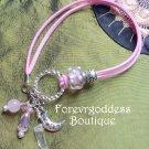 Rose quartz / Crystal quartz point Bracelet
