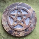 Soap stone Pentacle altar tile Item# SSP