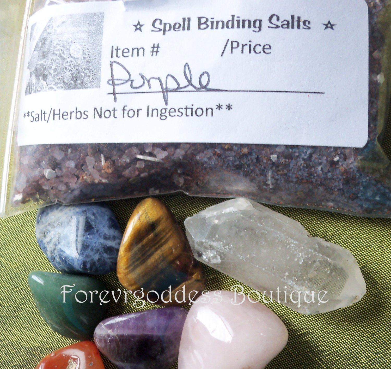Spell Binding salt/herb mix � Purple  Item# SBPU 02-03
