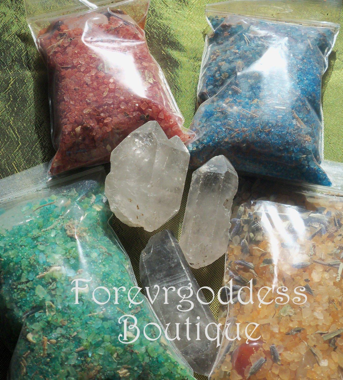 Spell Binding salt/herb mix � 4 package set #SBRA 03-04