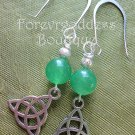 Aventurine/ Trinity  earrings