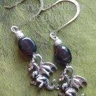 Garnet/ Dragon   earrings