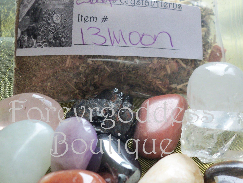 13 MOON Crystal / herbs �   # 13M 02-03