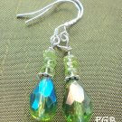 Peridot sterling silver earrings