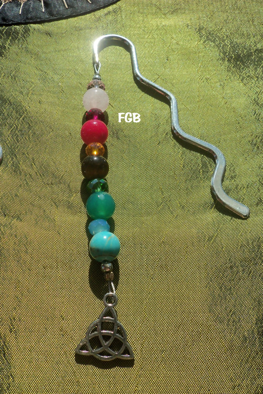 Mixed gemstone trinity bookmark