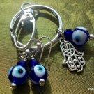 Evil eye Hamsa  Keychain earrings