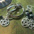 Snowflake Obsidian   Keychain earrings