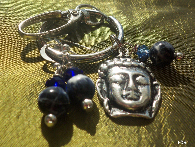 Sodalite  Keychain earrings