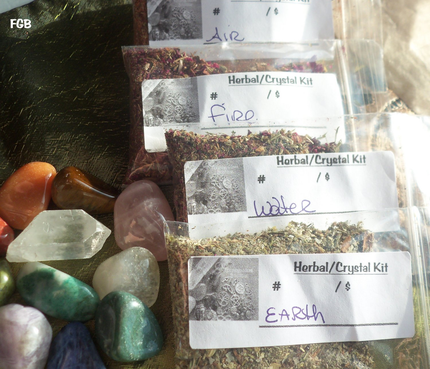 4 Elementals herbal mix/ Crystal kit