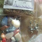 Faery Ears Crystal / herbs mix  Earring # FHE 01- 02