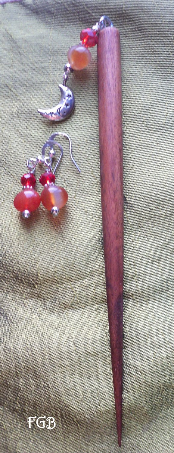 Hair Styx Carnelian Moon  set