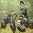 Fluorite  Pet Pendant Set