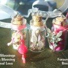 3 Spell Bottle Ornament Child blessings   Set