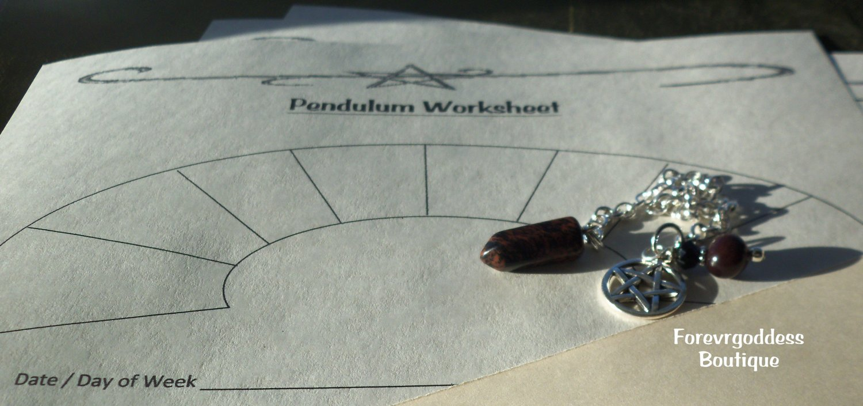 Mahogany Obsidian  pendulum / Worksheet
