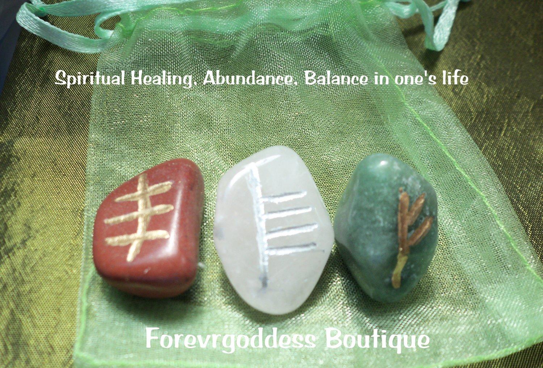 Spiritual healing, abundance, balance bind runes